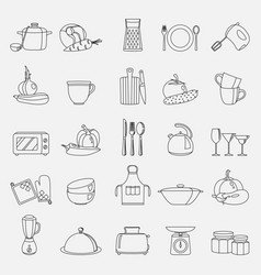 kitchen utensils household vector image