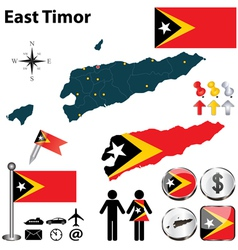 Map of East Timor vector image vector image