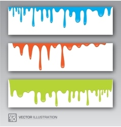 Paint colorful dripping background vector