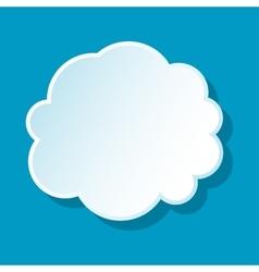 Round cloud icon vector image