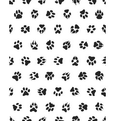 seamless of dogs paws vector image vector image