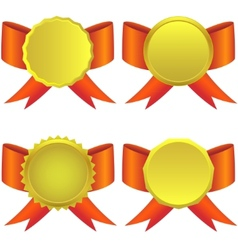Set of golden medals vector