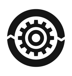 Setting parameters icon simple style vector image
