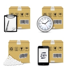 Shipment icons set vector image vector image