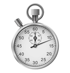 Simple classic stop watch isolated vector image