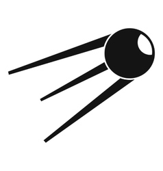Sputnik icon simple style vector image