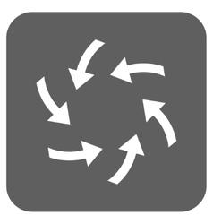 Swirl arrows flat squared icon vector