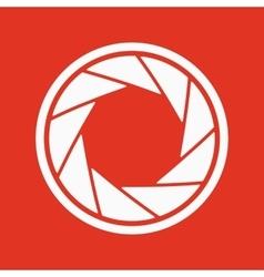 The diaphragm icon Aperture symbol vector image vector image