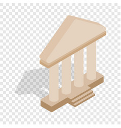 theatre building isometric icon vector image