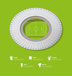 Top view of football stadium or soccer arena vector