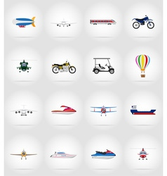 Transport flat icons 77 vector