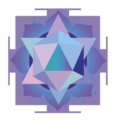 Violet mandala vector image