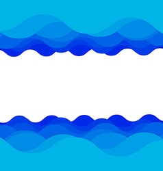 Water wave design vector image vector image