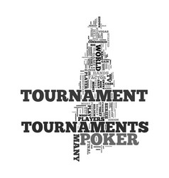wsop and poker tournaments text word cloud concept vector image vector image