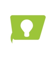 Regular lightbulb within conversation bubble icon vector