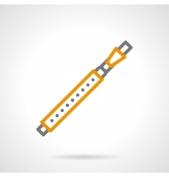 Bassoon simple line icon vector image