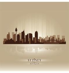Sydney australia skyline city silhouette vector