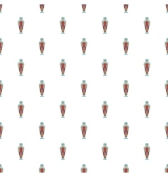 Ancient spartan gladiator pattern cartoon style vector