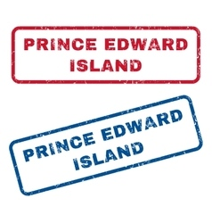 Prince edward island rubber stamps vector