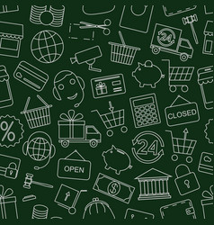 seamless pattern business vector image