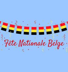 Belgium day vector