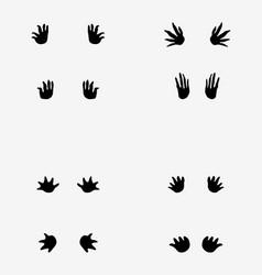 Footprints of crocodile vector