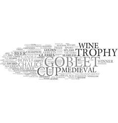 Goblet word cloud concept vector