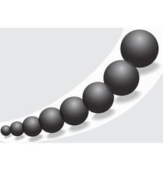Black glass balls vector image