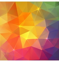 Abstract triangles ice colorful background vector image