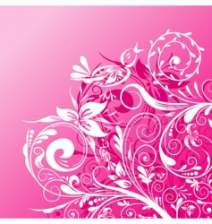 Floral abstract background vector vector