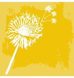 Watercolor graphic dandelion vector