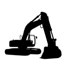 Excavator silhouette vector