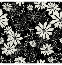Effortless floral pattern vector