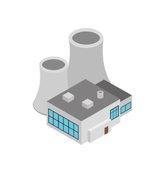 Factory building icon isometric 3d style vector