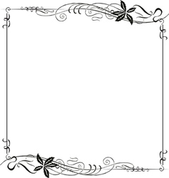 Frame ornate art nouveau vector