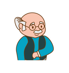 adult male glasses elder vector image vector image