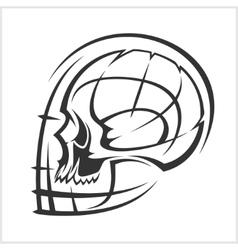 Alien skull virus computer demon phantom alien vector