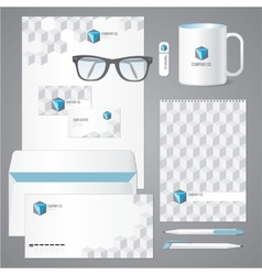 Architectural corporate identity template with 3d vector image