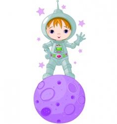 astronaut boy vector image vector image