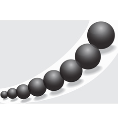 Black glass balls vector image vector image
