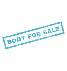 Body for sale rubber stamp vector