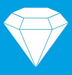 Brilliant gemstone icon white vector