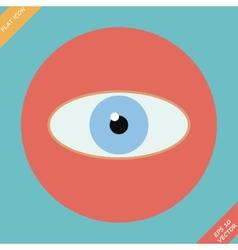 Eye icon - Flat design vector image