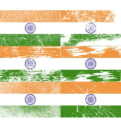 Flag of india with old texture vector