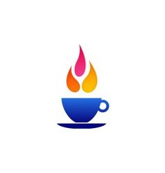 Flame coffee logo vector