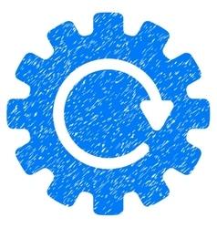 Gearwheel rotation grainy texture icon vector