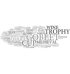 goblet word cloud concept vector image vector image