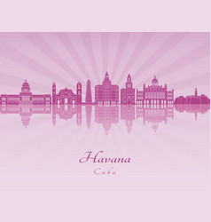 Havana v2 skyline in purple radiant orchid vector