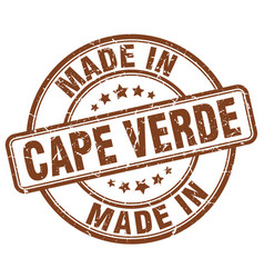 Made in cape verde vector