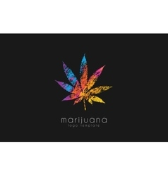 Marijuana leaf logo color marijuana logo drug vector
